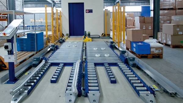 Pallet Conveyor Systems for Moving Industrial Pallets